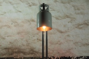 industriele staande lamp